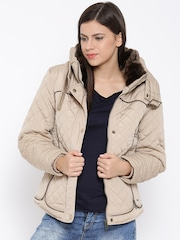Roadster Beige Quilted Jacket