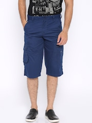 Locomotive Blue Slim Fit Cargo Shorts