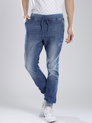 French Connection Blue Denim Joggers