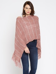 Anouk Pink Sequinned Poncho Sweater