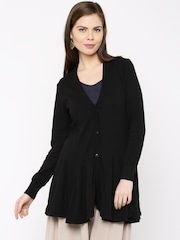 Anouk Black Flared Winter Tunic