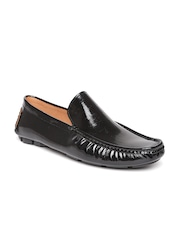 San Frissco Men Black Glossy Leather Loafers