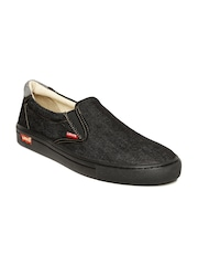 Levis Men Black Denim Loafers