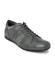 Levis Men Grey Leather Casual Shoes