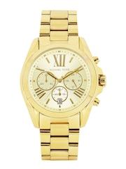Michael Kors Women Gold-Toned Dial Chronograph Watch MK5605