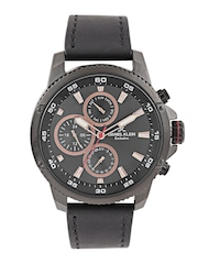 Daniel Klein Exclusive Men Gunmetal-Toned Dial Watch DK10945-6