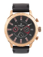 Daniel Klein Exclusive Men Gunmetal-Toned Dial Watch DK10978-7