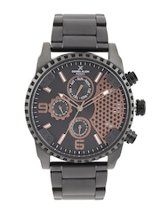 Daniel Klein Exclusive Men Gunmetal-Toned Dial Watch DK11035-1