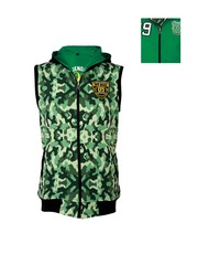 lumber boy Green Camouflage Print Reversible Hooded Sweatshirt