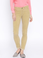 AND by Anita Dongre Beige Corduroy Trousers