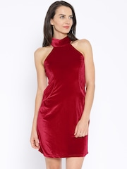 AND By Anita Dongre Red Velvet A-line Dress