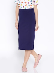 AND by Anita Dongre Navy Pencil Skirt