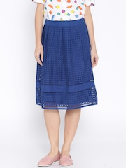 AND by Anita Dongre Blue A-Line Skirt