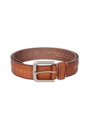 Kara Men Brown Genuine Leather Belt