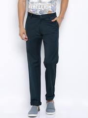 Arrow Sport Navy Sport Regular Fit Casual Trousers