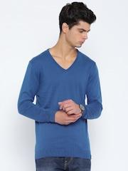 Peter England Casuals Blue T-shirt