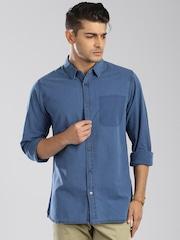 Tommy Hilfiger Blue Denim Casual Shirt