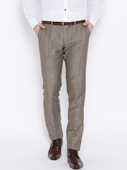 Blackberrys Taupe Sharp Fit Formal Trousers