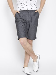 Blackberrys Grey Patterned Sharp Fit Shorts
