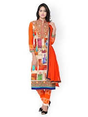 Satrani Multicoloured Embroidered Unstitched Dress Material