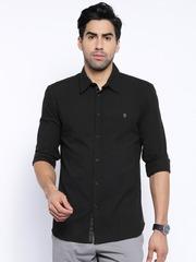 Core by Jack & Jones Black Slim Fit Casual Shirt