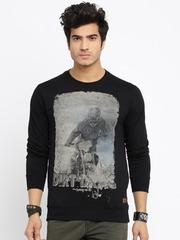 Roadster Black Printed Sweatshirt