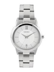 SEIKO Men Silver-Toned Sapphire Dial Watch SGEF41P1