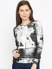 Kook N Keech Women Black Printed Pullover Sweatshirt