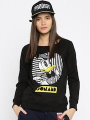 Kook N Keech Disney Black Printed Sweatshirt