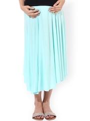 Oxolloxo Green Maternity Midi Skirt