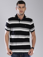 Tommy Hilfiger Black Striped Polo T-shirt