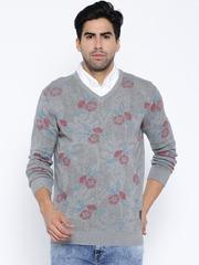 SPYKAR Grey Floral Print Sweater