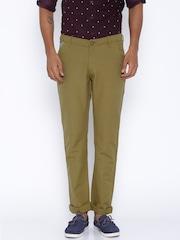 SPYKAR Khaki Casual Trousers