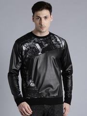 Kook N Keech Black & Grey Printed Sweatshirt