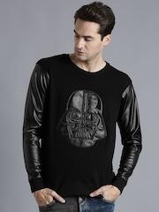 Kook N Keech Black Darth Vader Appliqu Sweatshirt