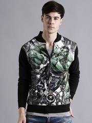 Kook N Keech Marvel Black & Green Printed Sweatshirt