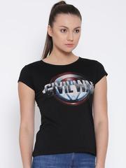CAPTAIN AMERICA Black Printed T-shirt