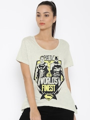 Dawn of Justice Off-White Printed T-shirt