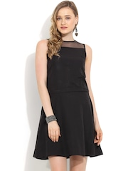 Trend Arrest Black Fit & Flare Dress