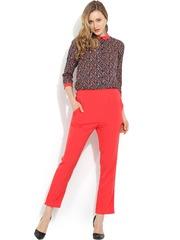 Trend Arrest Coral Pink Printed Jumpsuit