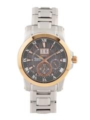 SEIKO Premier Men Grey Kinetic Motion Dial Watch SNP114P1