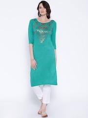 Anouk Green Printed Kurta