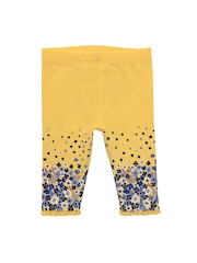 mothercare Girls Yellow Printed Ankle-Length Leggings