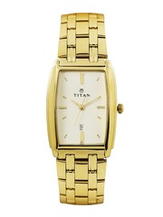 Titan Men Muted Gold-Toned Dial Watch NH1163YM02
