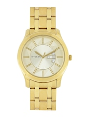 Titan Men Gold-Toned Dial Watch NF1627YM02