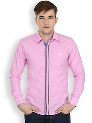 Cotton County Premium Pink Slim Fit Casual Shirt