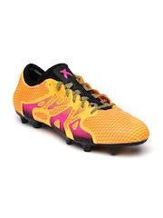 Adidas Men Orange X 15+ Primeknit FG/AG Printed Football Shoes