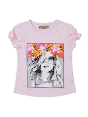 Nauti Nati Girls Pink Printed Top