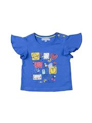 Nauti Nati Girls Blue Printed Top