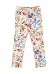 Nauti Nati Girls Multicoloured Floral Print Chino Trousers